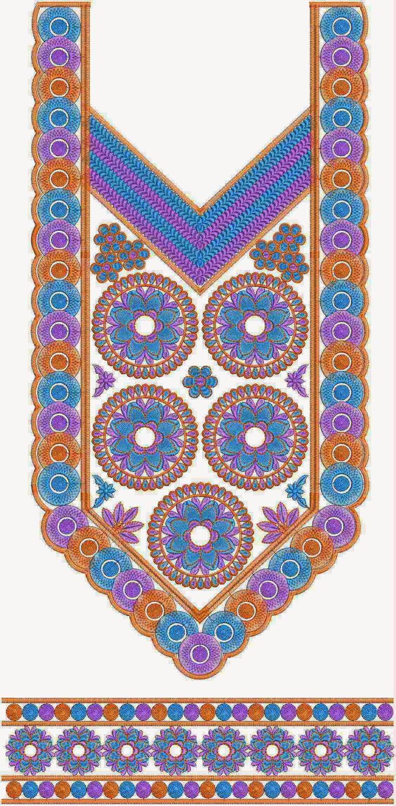 geboë borduurwerk Kurti rok ontwerp