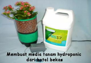 Trik membuat media tanaman Hydroponic dari botol bekas