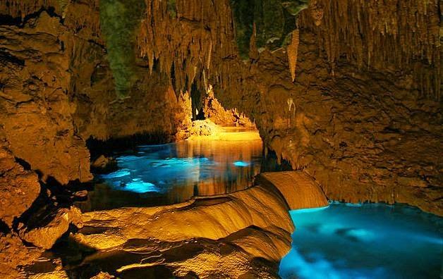 Illuminated Caves Okinawa Japan