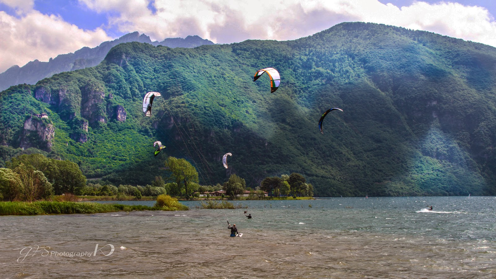 kitesurf, kiteboard, lake, idro, italy, kitesurf lake idro italy
