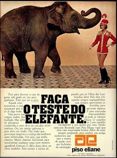 piso Eliane; lajotas; anos 70.  Reclame 1976.  década de 70. os anos 70; propaganda na década de 70; Brazil in the 70s, história anos 70; Oswaldo Hernandez;