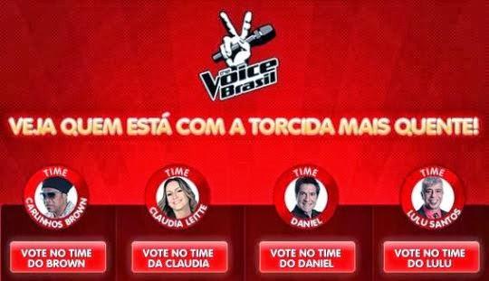 votação do The Voice Brasil