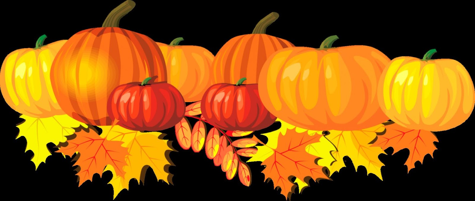 Pumpkins And Fall Leaves Clipart   Clipart Kid