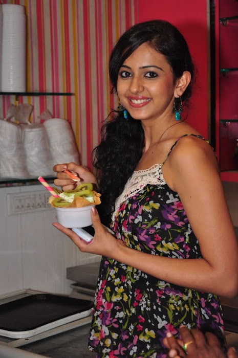 rakul preet singh new @ cream stone ice cream shop hot photoshoot