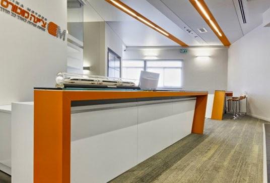 desain interior resepsionis kantor