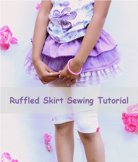 DIY ruffled tulle skirt pattern