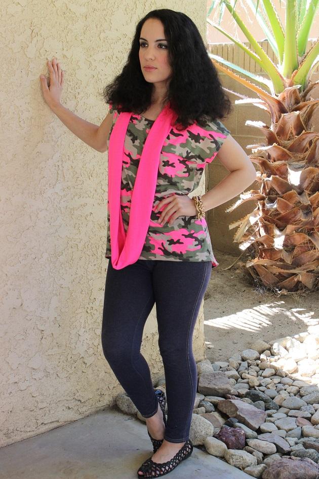 Pink Camo Tee