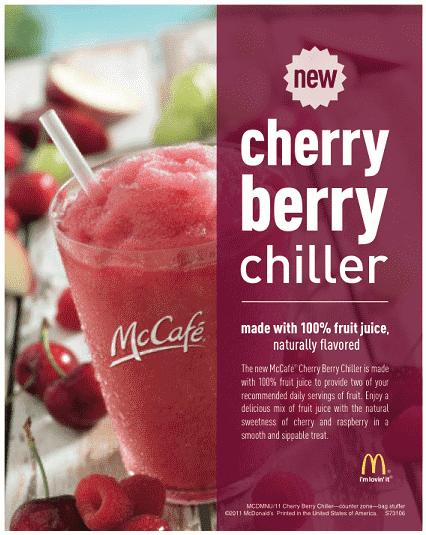 McDonald's Adds Cherry Berry Chiller To Menu « Eastfist: Chongchen ...