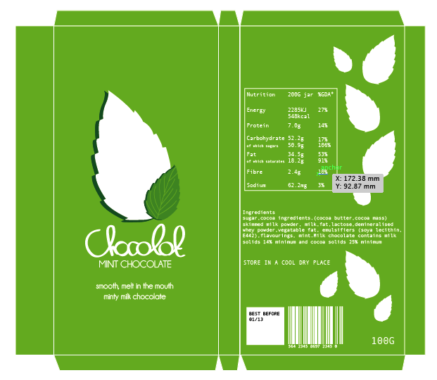 Design practice: Chocolot brief chocolate bar packaging