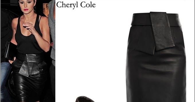 what she wore cheryl cole in black leather balenciaga