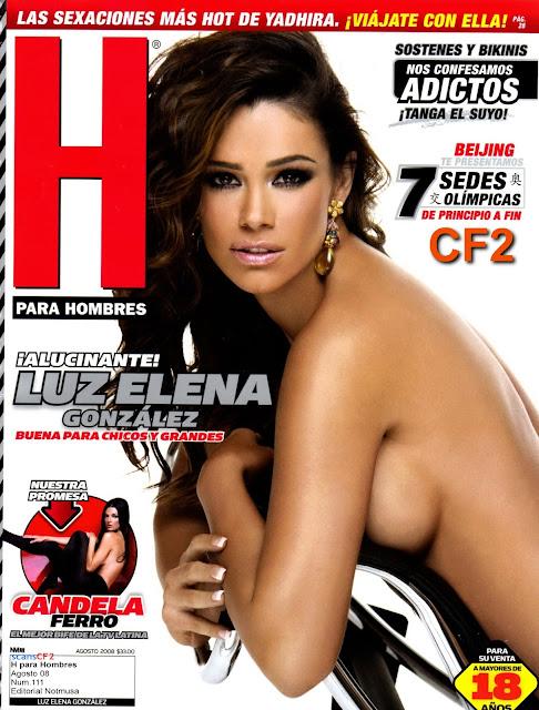 Luz Elena González Revista H para hombres Agosto 2008