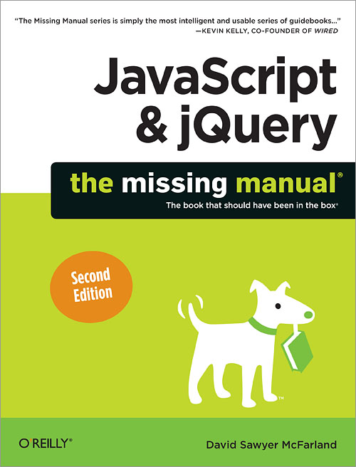 JavaScript and jQuery: The Missing Manual front cover