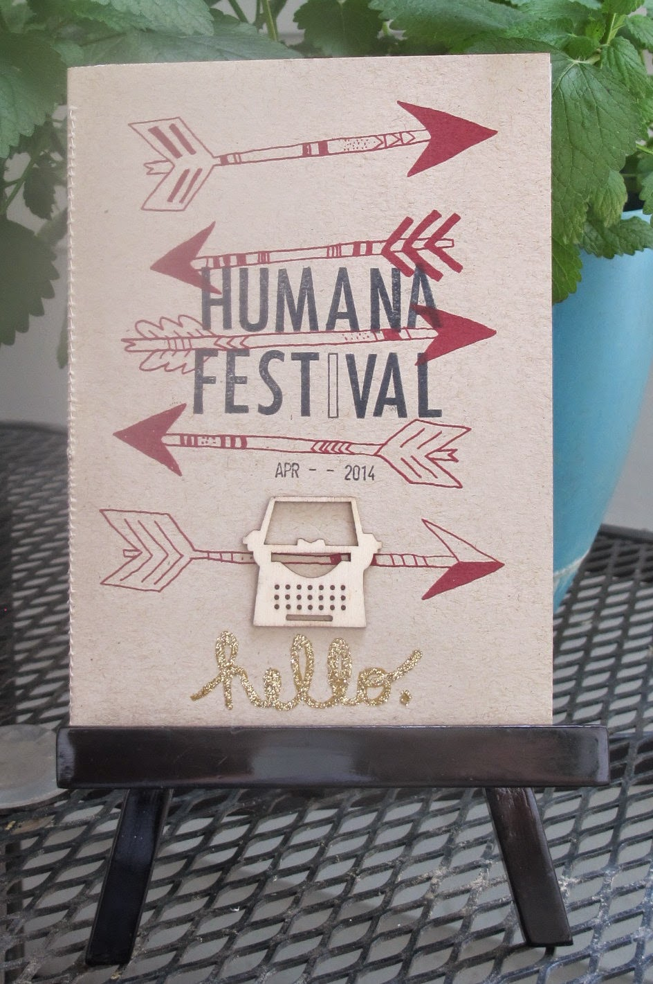 make a letterpress mini book from a greeting card
