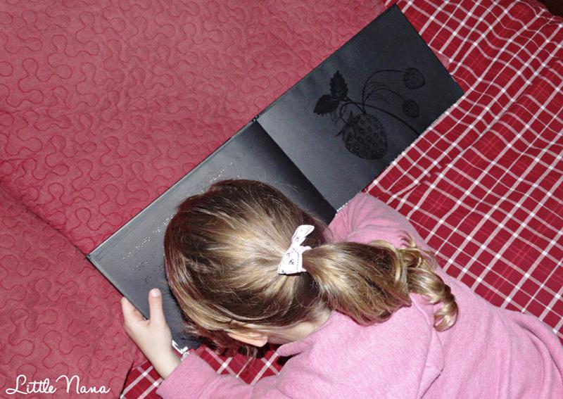 Hoy leemos el libro negro de los colores Cuentos infantiles Braille álbum ilustrado