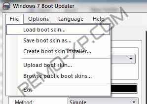 load boot skin windows 7