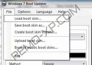 load boot skin windows 7