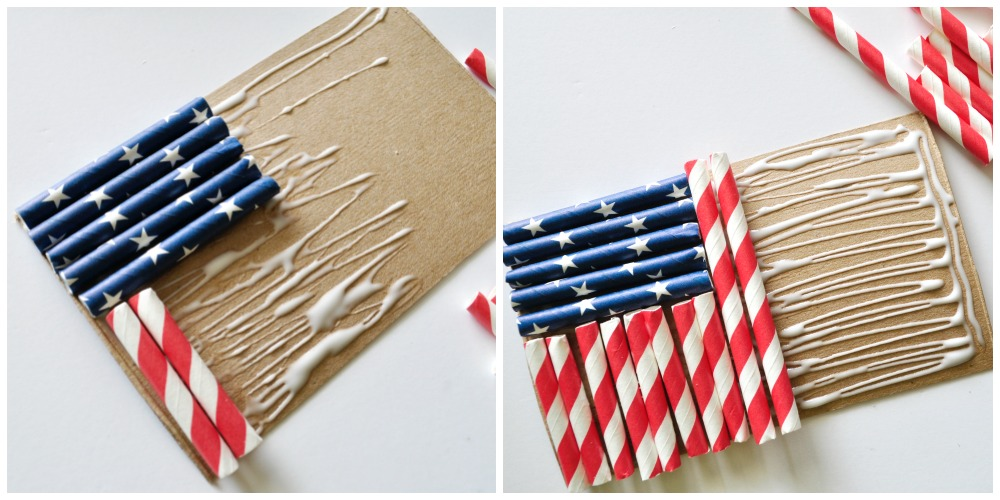 Simple flag craft for kids made with straws i heart - Things made out of straws ...