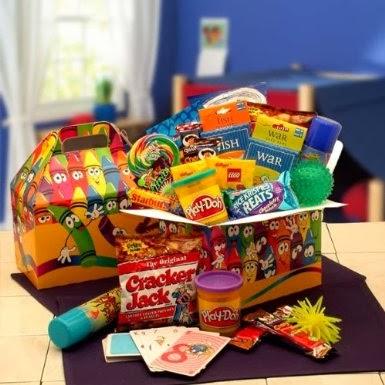 Christmas gift baskets for kids for Baskets for kids room