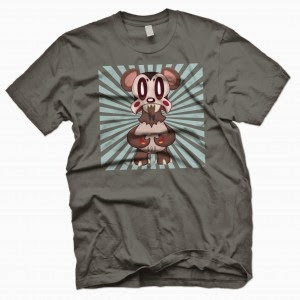 Lavabear Rising T-Shirt by Nathan Hamill & Outsmart Originals
