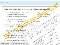 Unduh File Contoh Soal UTS Kelas IV ,V dan VI