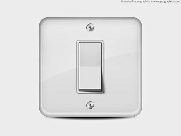 Light Switch Icon PSD