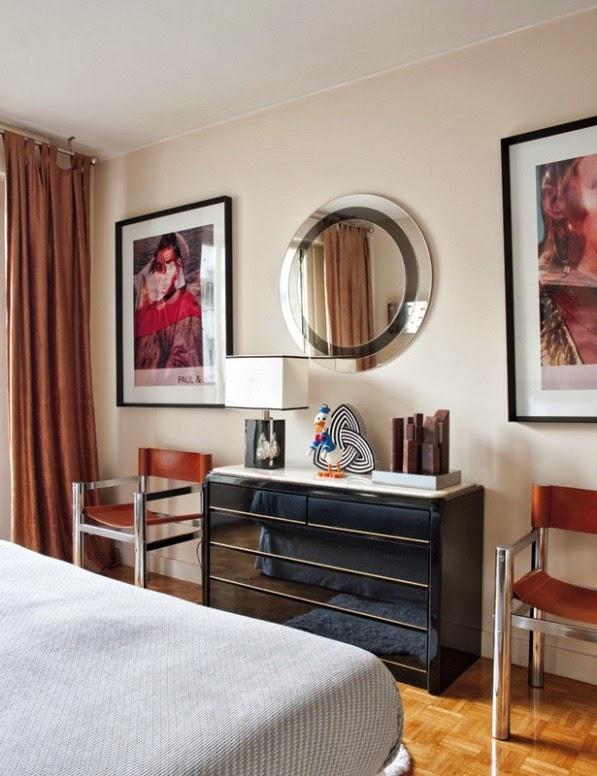 dormitorio decorado con piezas vintage