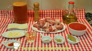 Receta fácil de costillas de cerdo en salsa