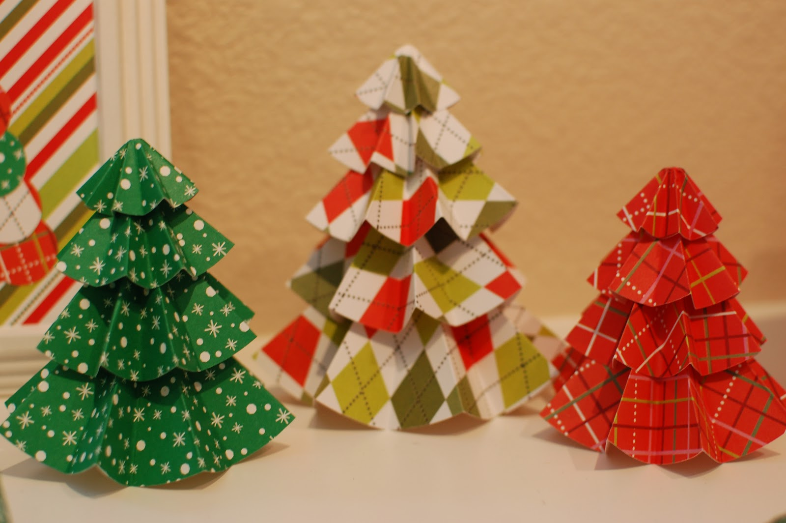 Pinkie For Pink Tutorial Christmas Paper Trees