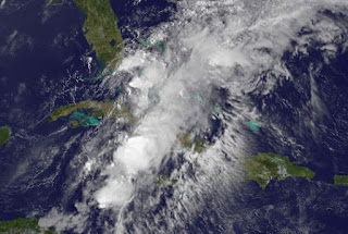 System 94-L (potentiell Tropischer Sturm BERYL) bei Kuba, Florida und den Bahamas, Beryl, aktuell, Vorhersage Forecast Prognose, Mai, 2012, Atlantische Hurrikansaison, Hurrikansaison 2012, Karibik, Satellitenbild Satellitenbilder, Florida, Kuba, Bahamas,