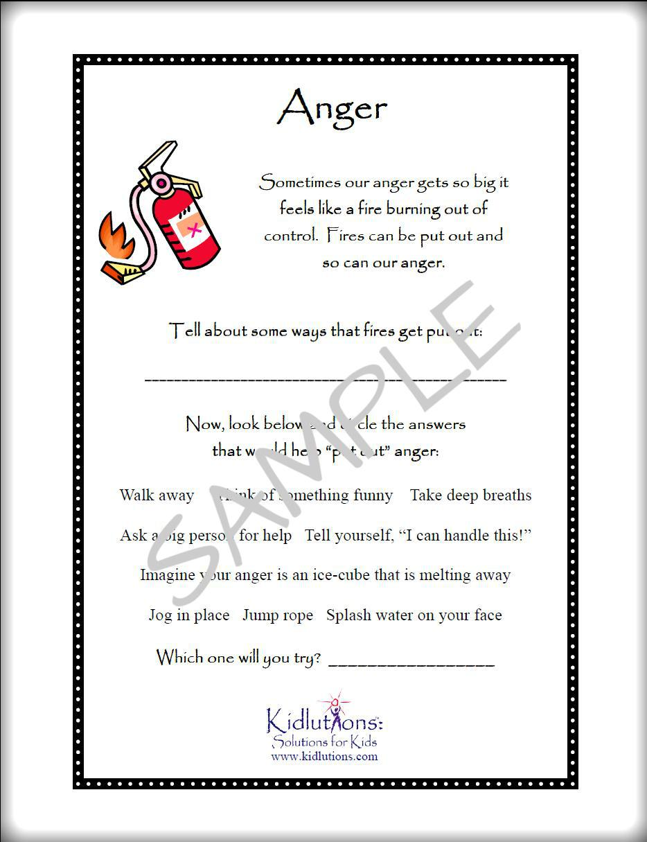 worksheet Free Anger Management Worksheets free printables on anger self esteem divorce grief and more