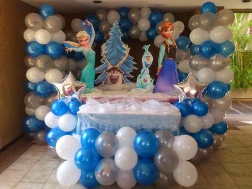 Fiestas infantiles decoradas con frozen parte 2 for Globos decoracion fiestas