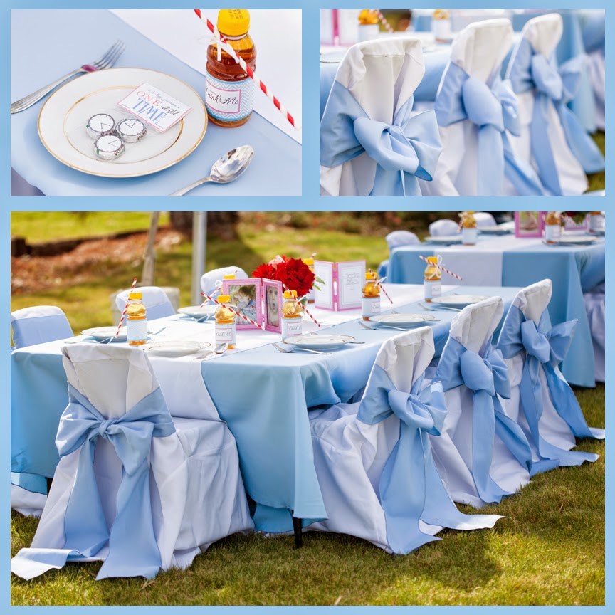 Beautiful diy alice in wonderland first birthday part three for Diy all white party decorations