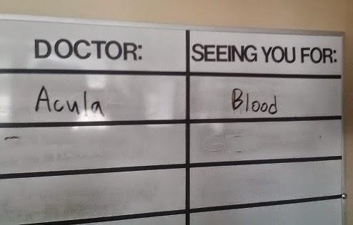 dr. acula doctor blood joke dracula sangre broma ciencia científica science scientific humor humour