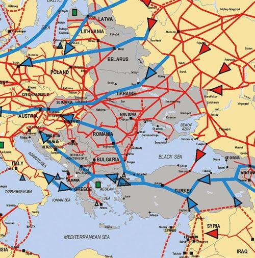 Схема газопроводов бывшего