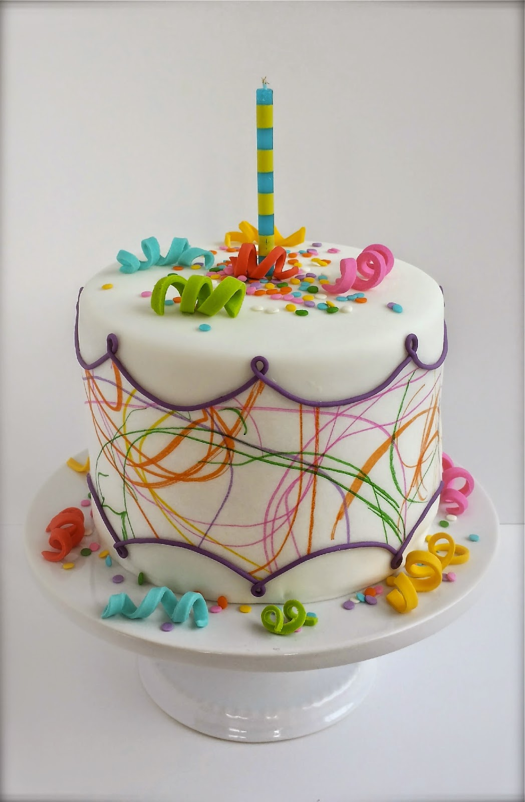 Art Gallery Birthday Cake : Cake Blog: Toddler Art Birthday Cake