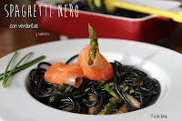 Spagheti nero con verduritas