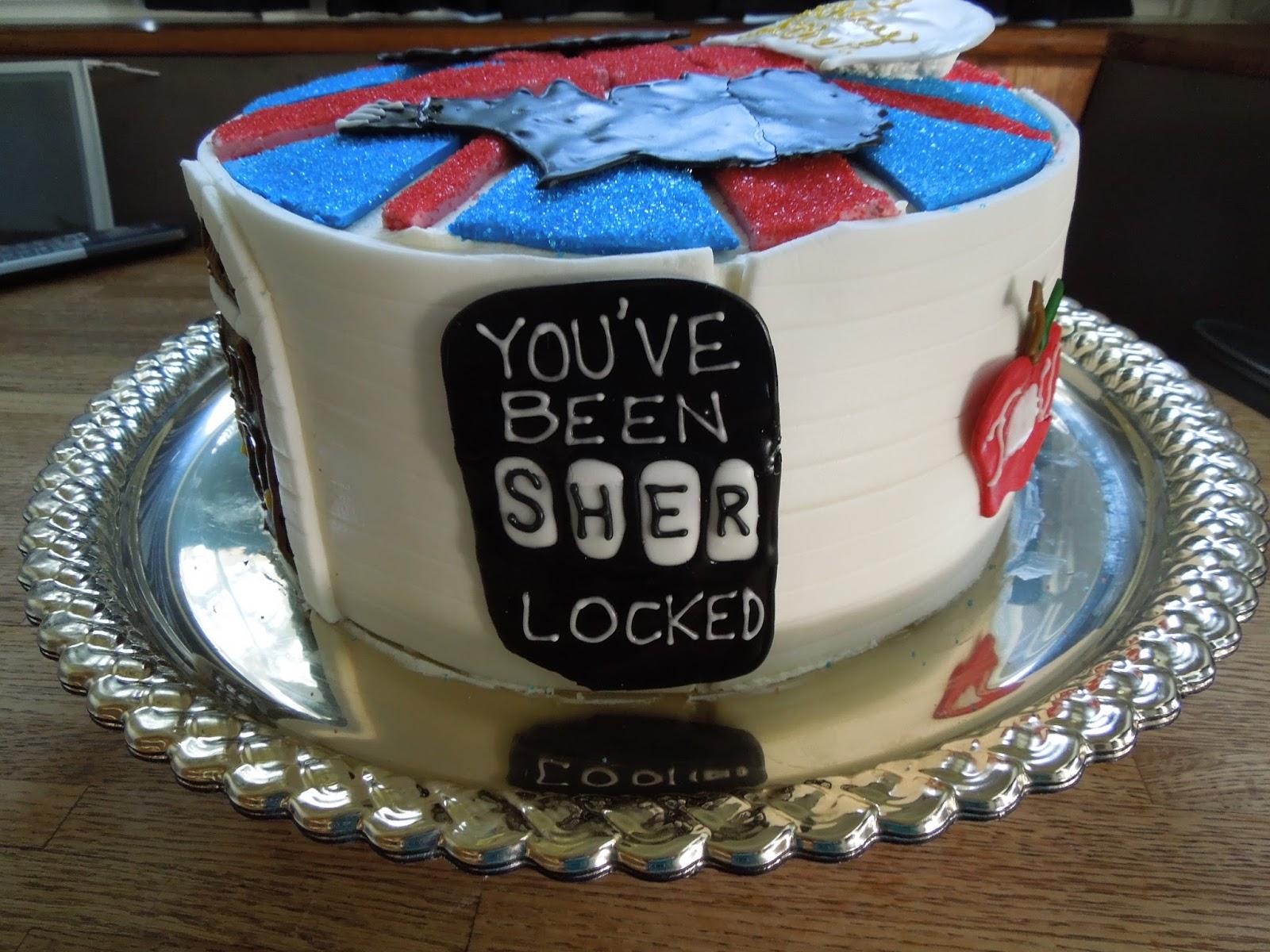 Sherlock Birthday Cake With Sherlock And John Silhouettes 221b Iou