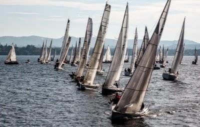"""L'""""Inverna"""" sul Lago Maggiore, a Belgirate, momenti di regate"""