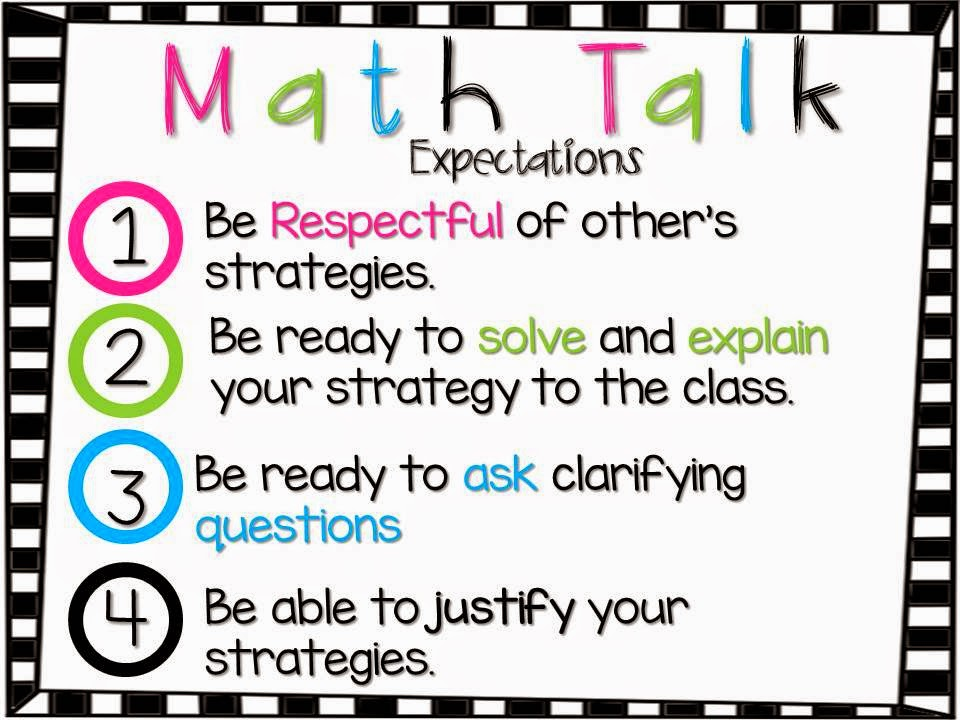 Following First Grade With Mrs. Parker: Math Talk…..The ...