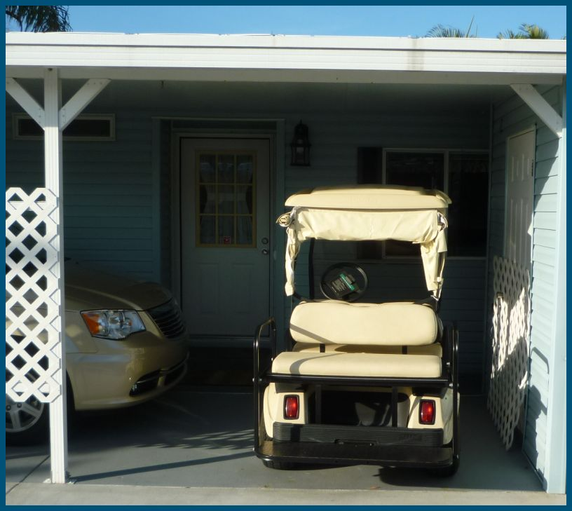 Angelil adventures giddy up golf cart for Golf cart garage door