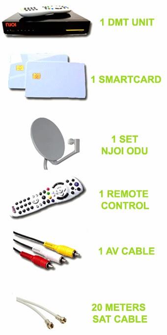 Setiap pemasangan anda akan menerima set Njoi yang lengkap seperti berikut:
