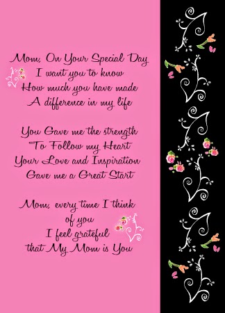 Birthdays Cards For Moms With Mothers Hands Poetry