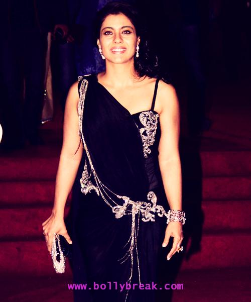 Kajol in shoulderless black gown - Kajol in Black Gown looking hOT