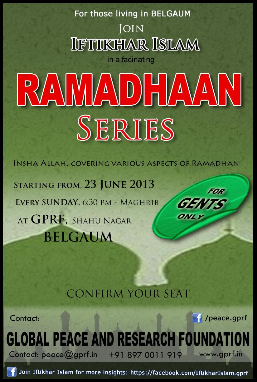 GPRF - Ramadhaan Series