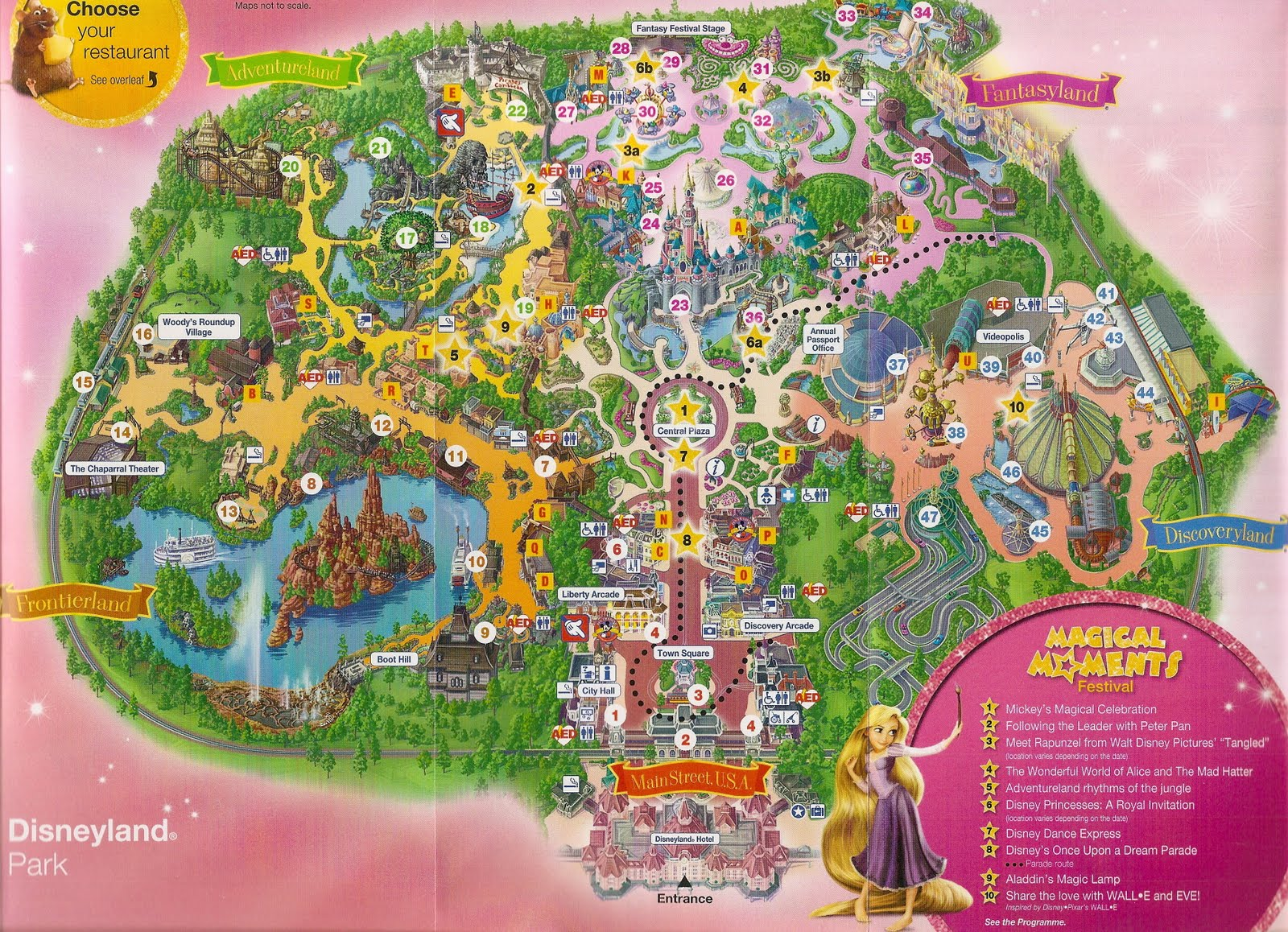 To disneyland resort paris with a look at the map of the disneyland