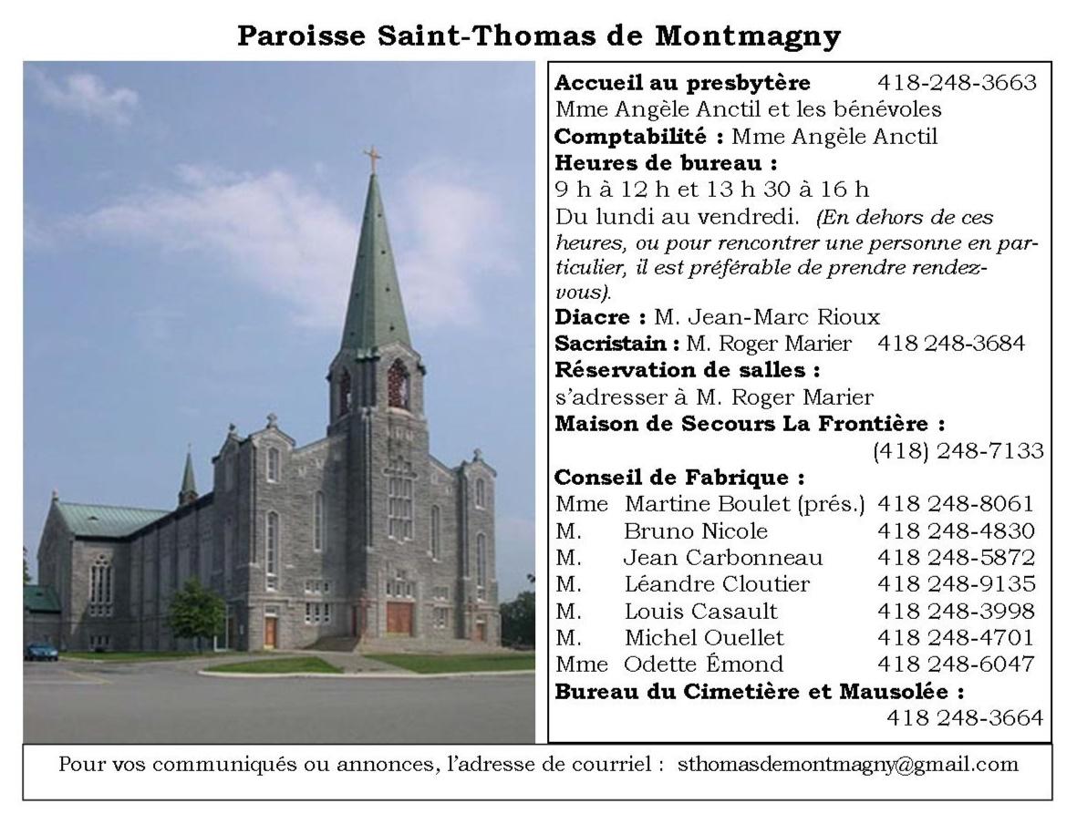 Paroisse Saint-Thomas de Montmagny