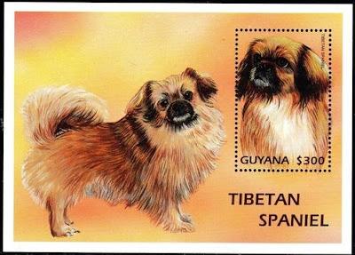 2006年ガイアナ協同共和国 チベタン・スパニエルの切手シート