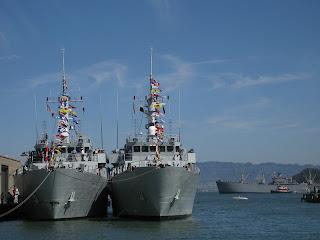 HMCS Brandon and HMCS Yellowknife, Pier 19, San Francisco, California