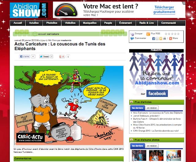 Caric-Actu sur Abidjanshow.com-Les Aventures de Yoyo.com