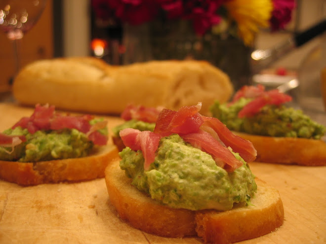 Green Pea Crostini with Prosciutto